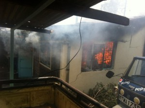 Angry Makongeni youths in Thika town have burnt all property belonging to Kamenu MCA Mary Hussein