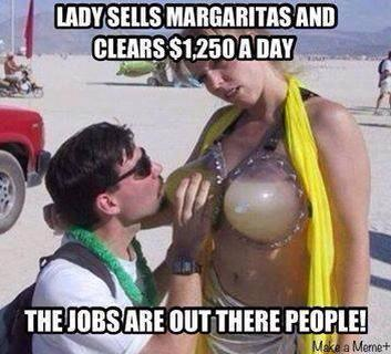 lady selling lemonade using bra