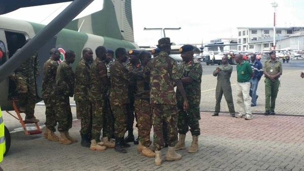 16 kdf survivors rescued from bushes in somalia