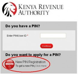 KRA PIN ONLINE APPLICATION PROCEDURE IN iTax