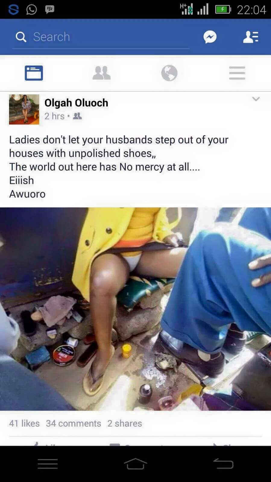 DON'T LET YOUR HUSBAND LEAVE HOME WITH UNPOLISHED SHOES!!WORLD IS RUTHLESS