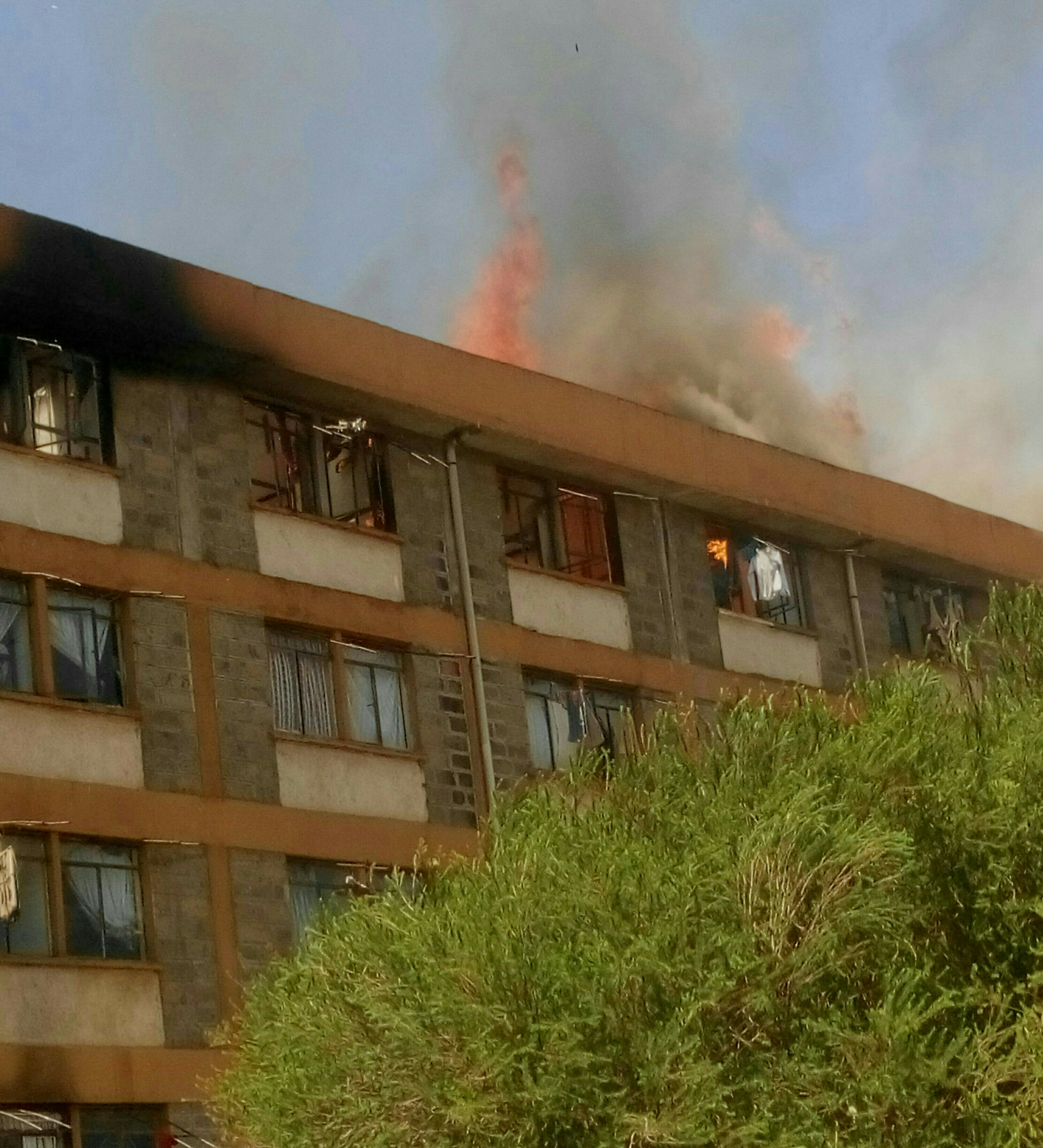 JKUAT HALL SIX ON FIRE