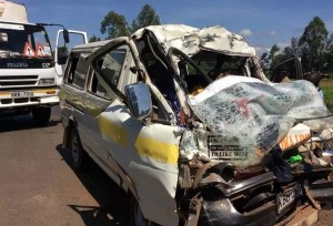DRIVER CAUSES NASTY ACCIDENT WHILE BETTING AND DRIVING