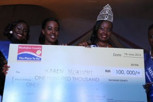 UPROAR AS MISS MACHAKOS WINNER COMES FROM MURANGA