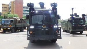 Tear gas Tanks and Hot water cannons Uhuru purchased