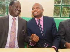Moses Kuria and Raila Odinga