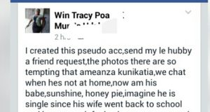 MEN BE CAREFUL!! SEE WHAT KENYAN LADY DID TO HUSBAND ON FACEBOOK