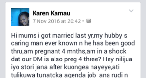 Both wife and househelp pregnant same time