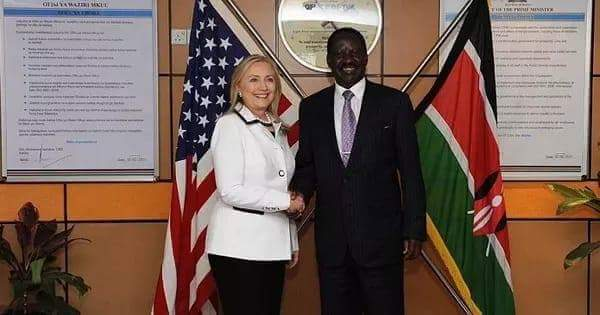 Raila and Hillary clinton
