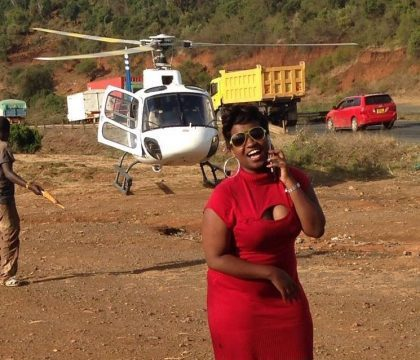 UJALUO NI GHARAMA.LADY HIRES CHOPPER AFTER STUCK ON TRAFFIC