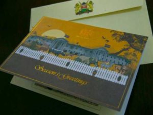 UHURU SENDS MILLIE ODHIAMBO CHRISTMAS CARD