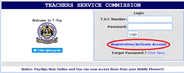 TSC PAYSLIP ONLINE REGISTRATION AND DOWNLOAD: TSC PORTAL  Download Payslips