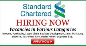 standard chartered bank job vacancies