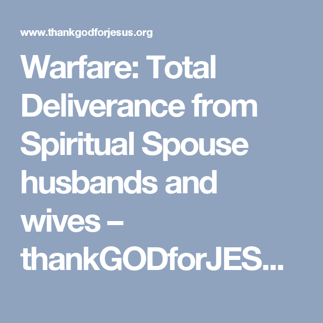 spiritual husbands and wives